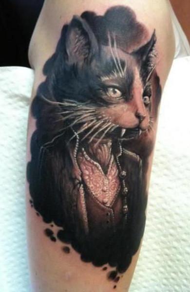 čierna chlpaté mačička obrázok