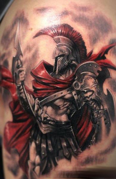 Татуировка спартанец - значение, эскизы тату и фото