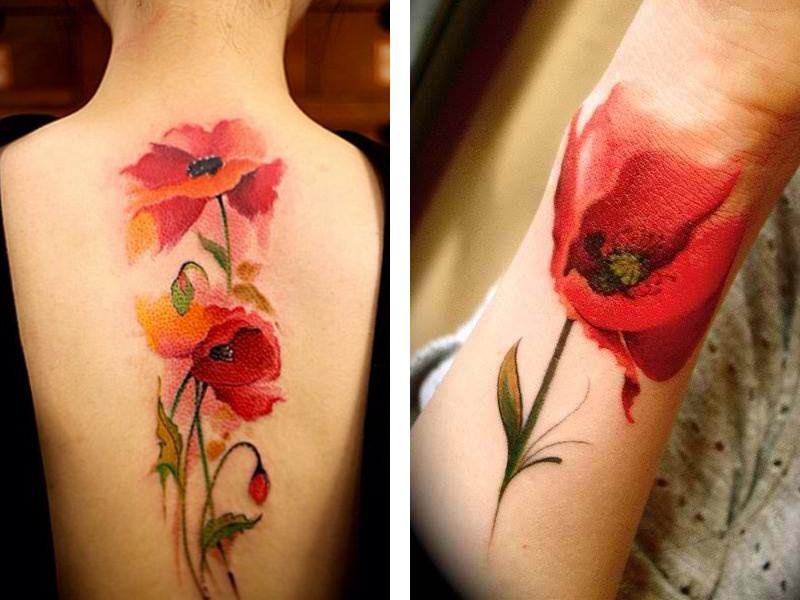 Татуировка мак и ее значение