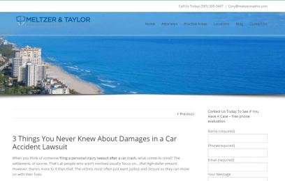 Blog Posts for Meltzer & Taylor