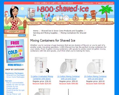 1-800-ShavedIce Product Descriptions