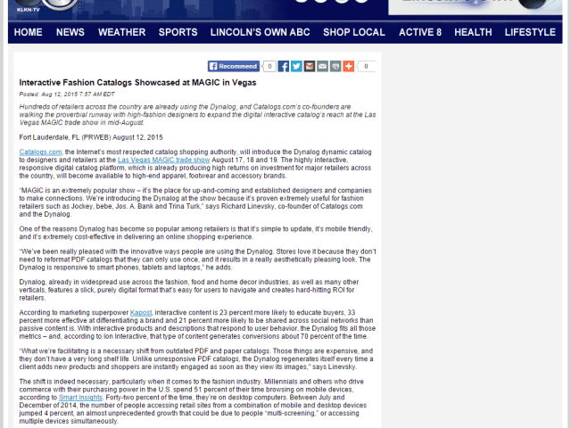 Press Release on ABC News