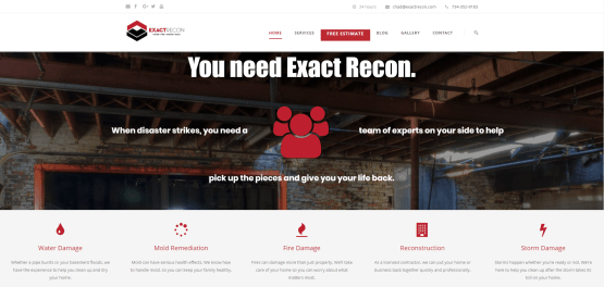 Website Copy for Emegency Restoration Company