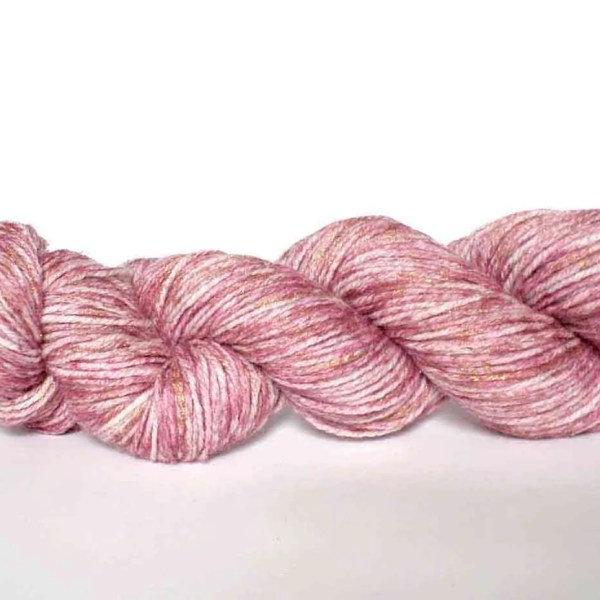 Gold-and-pink-yarn