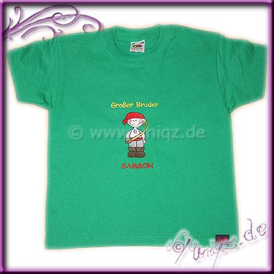 Piraten-T-Shirt für große Brüder, mit Namen