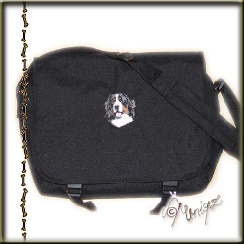 Messengertasche in schwarz mi8t Berner Sennenhund