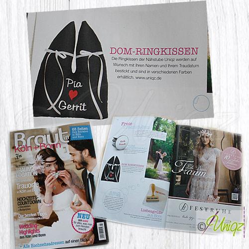 Uniqz im Brautmagazin