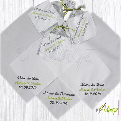 Freudentränen Taschentücher zur Hochzeit
