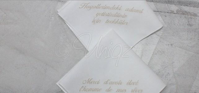 Stofftaschentücher mit Ihrem eigenen Text bestickt