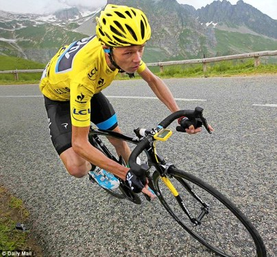 Chris Froome in full flight