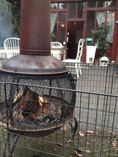 The chiminea was the only thing between me and hypothermia...