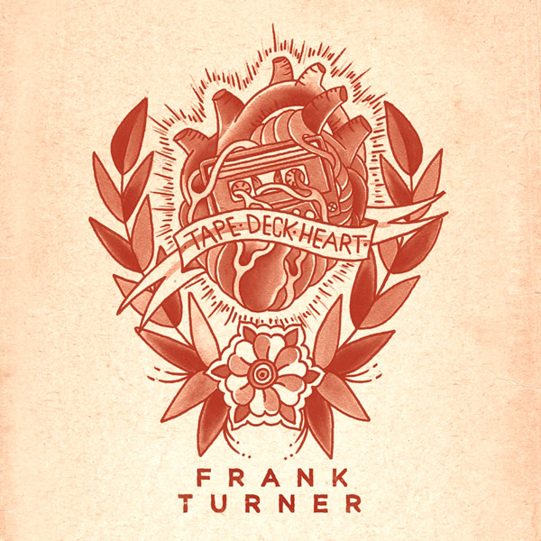 Artwork du nouvel album de Frank Turner, Tape Deck Heart, créé par la tatoueuse Heather Law.