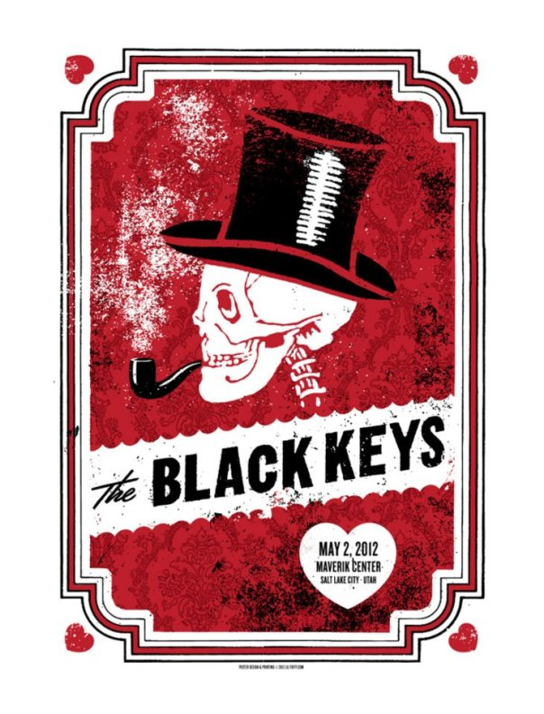 Le Gig Poster designer par Lil Tuffy pour The Black Keys (source: facebook de Lil Tuffy)