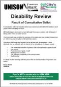 Disability ballot