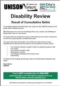 Disability ballot