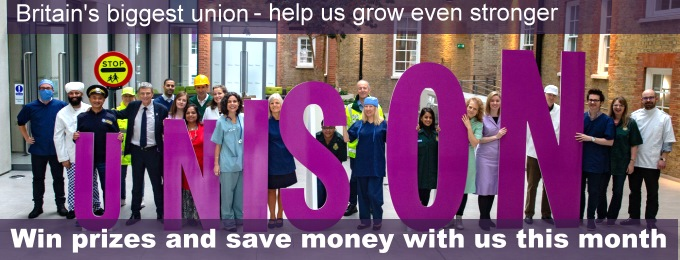 Win prizes and save money during November with UNISON!