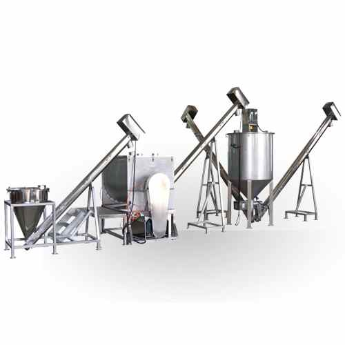 grains mixing transporting packing system