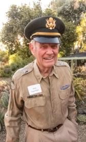 Dick Ingram in his genuine Army uniform