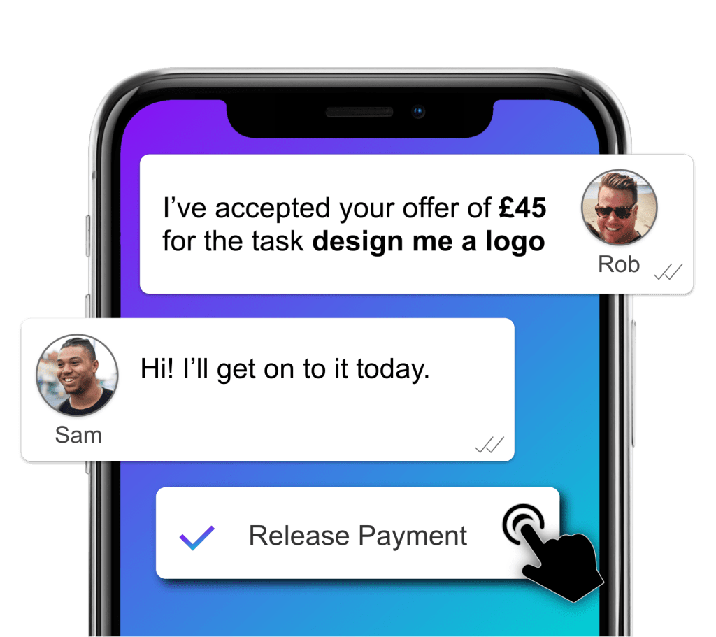 Chat and Release Payment UniTaskr