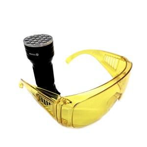 latarka lampa UV okulary ochronne led 1