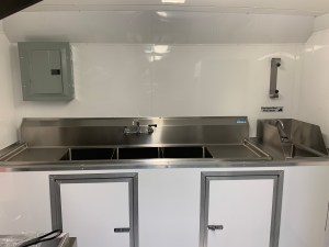 16 ft Tacos Concession Trailer kitchen