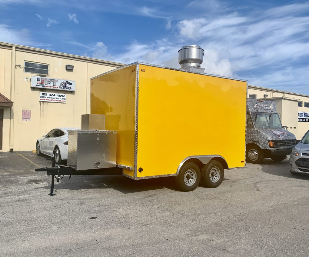 Concession Trailer yellow for sale