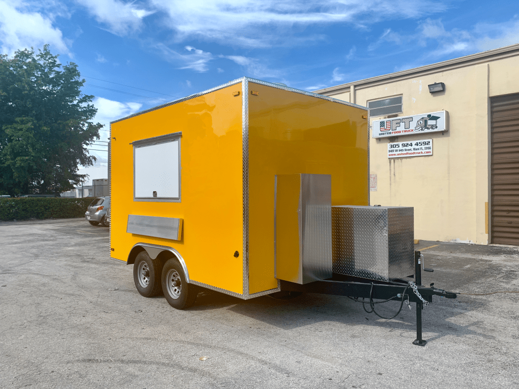concession trailer yellow