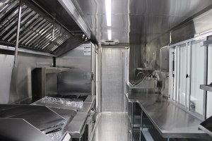 inside kitchen for food truck for sale