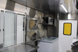Food truck kitchen inside stainless steel for sale
