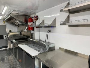 Lobstar Food Truck Kitchen inside