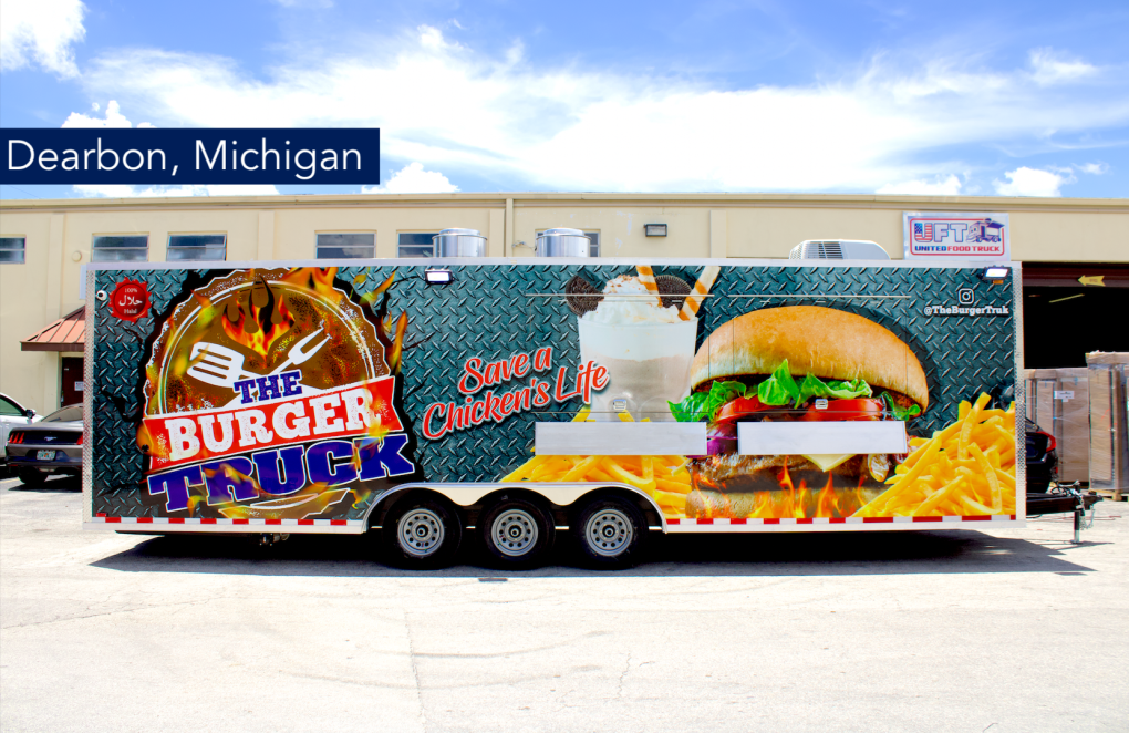 28' Concession Trailer the truck burger