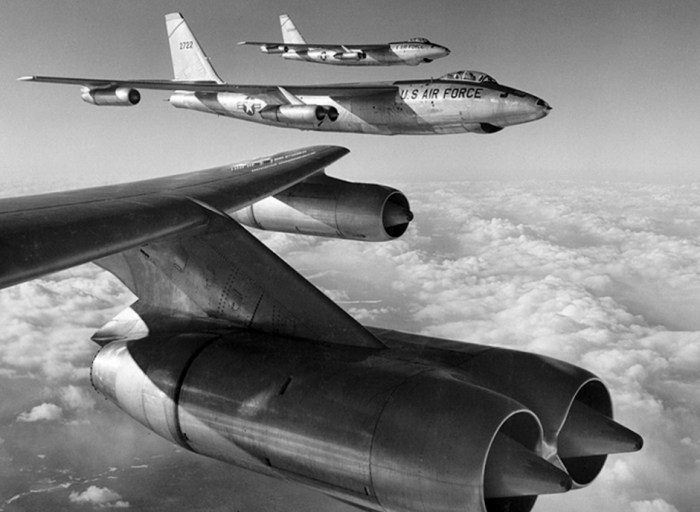 The Boeing B-47 Stratojet: Kicked off the jet age in 1947. It's swept back wings and pod mounted jet engines were a revolution in aircraft design. Every large jet aircraft today is a descendant of the B-47. Photo: The B 47 Stratojet Association