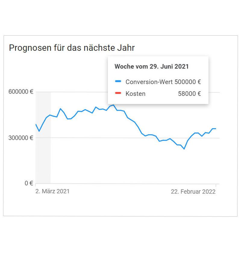 Detaillierte Google Ads Prognose