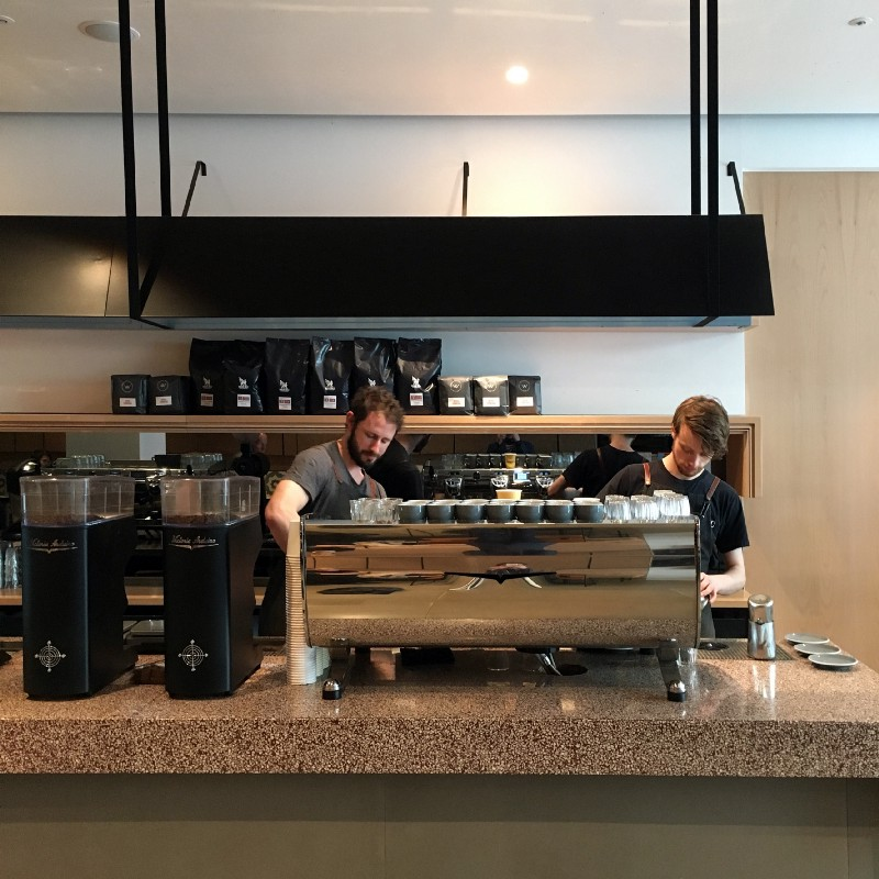 Association Coffee benefits from a central London location near St. Paul's and staff work on a Victoria Arduino Black Eagle Gravimetric.