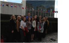 students at UN