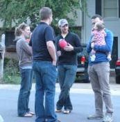 talking to neighbors