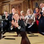 2016.4.19 Utah Bill Signing Governor Herbert applause