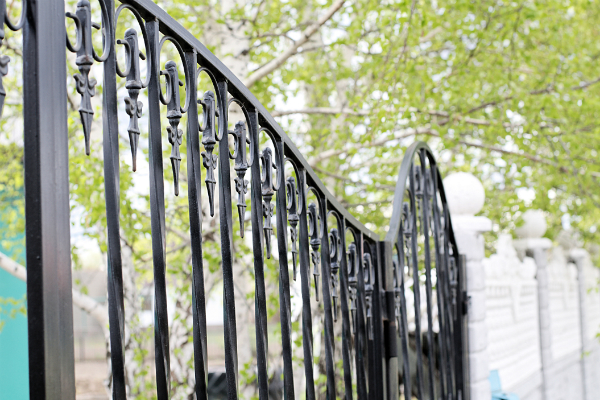High End Iron Gates Security For Apartments Electric Gate Parking Lot