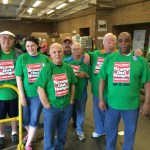 This crew of United Food Operation regular volunteers stayed all day.