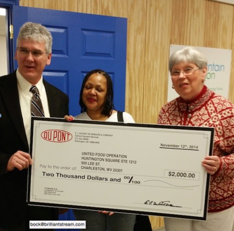Dupont donation to United Food Operation, Inc.