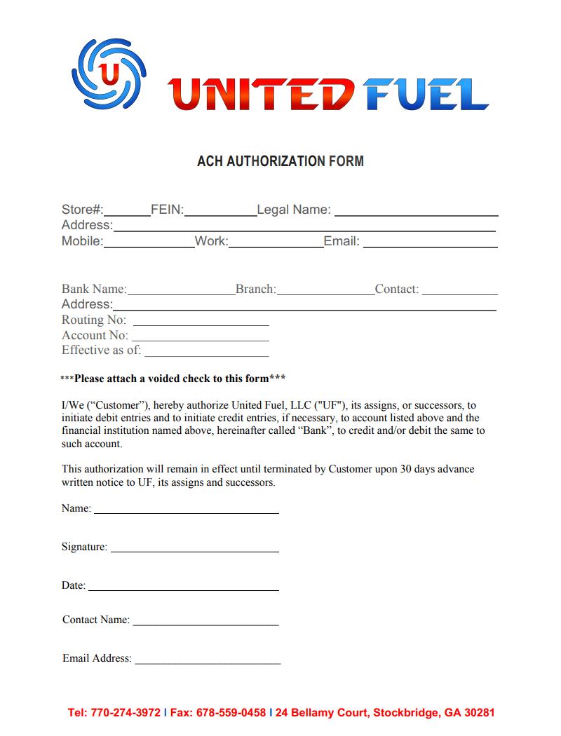 EFT Authorization Form
