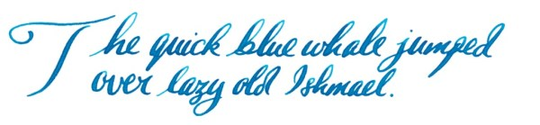 Ahab writing sample blue