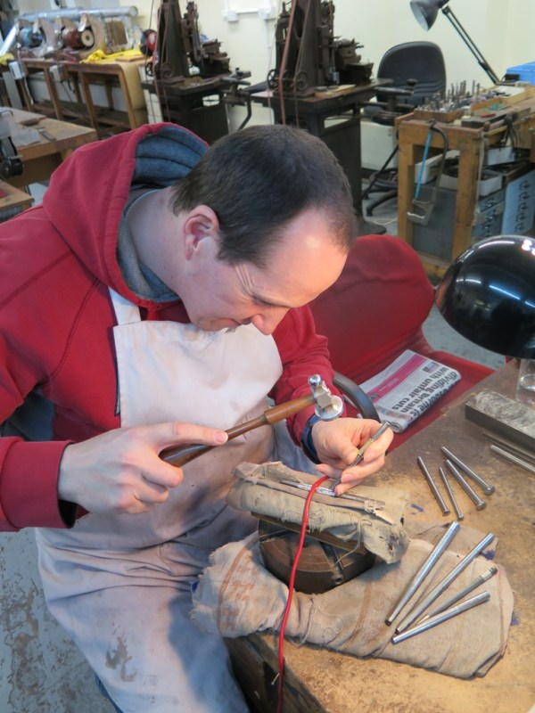 Alex in the workshop