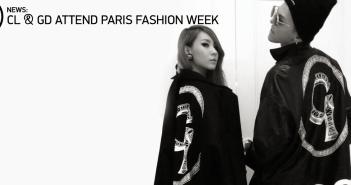 G-Dragon, CL, Paris, France, Paris Fashion Week, K-Pop, 2NE1, Big Bang