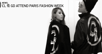 G-Dragon, CL, Paris, France, Paris Fashion Week, K-Pop, 2NE1, Big Bang