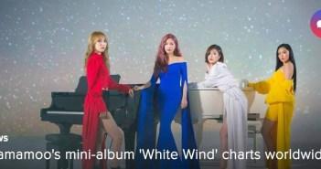 [NEWS] Mamamoo's mini-album 'White Wind' charts worldwide