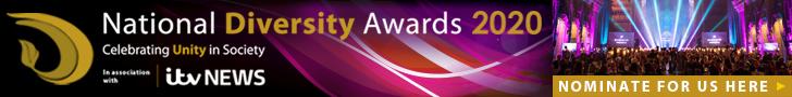 National Diversity Awards 2020 nomination banner