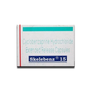 Buy Skelebenz 15mg-Cyclobenzaprine Hydrochloride Extended Release Capsules