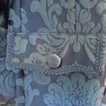 Men's colonial jacket, brocade, pocket detail