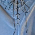 Men's colonial breeches in velveteen, center back detail
